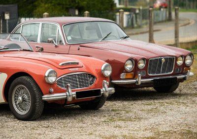 Austin Healey 100/6 et Jaguar XJ6 en entretien chez Classic Atelier